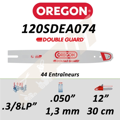 Guide de tronçonneuse OREGON 120SDEA074 3/8LP 1.3 mm 30 cm