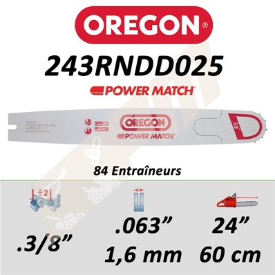 Guide de tronçonneuse OREGON POWER MATCH 60 CM