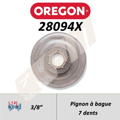 Pignon de tronçonneuse OREGON POWER MATE 3/8