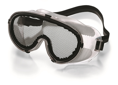 Lunette de protection grillagée