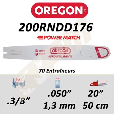 Guide de tronçonneuse OREGON POWER MATCH 50 CM