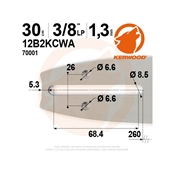 Guide tronçonneuse KERWOOD 30 cm 3/8LP 1.3mm