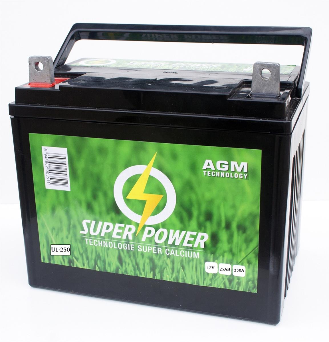 batterie tracteur tondeuse autoport e agm 12v 25 amp. Black Bedroom Furniture Sets. Home Design Ideas