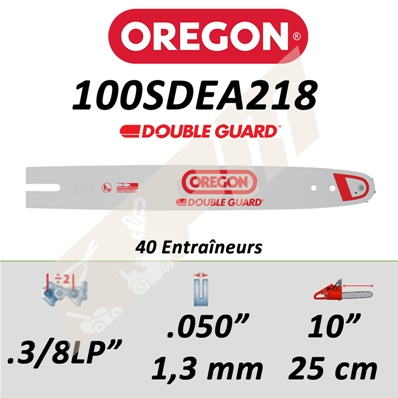 Guide de tronçonneuse OREGON 100SDEA218 3/8LP 1.3 mm 25 cm