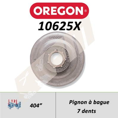 Pignon de tronçonneuse OREGON POWER MATE .404