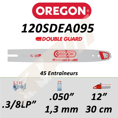 Guide de tronçonneuse OREGON 120SDEA095 3/8LP 1.3 mm 30 cm