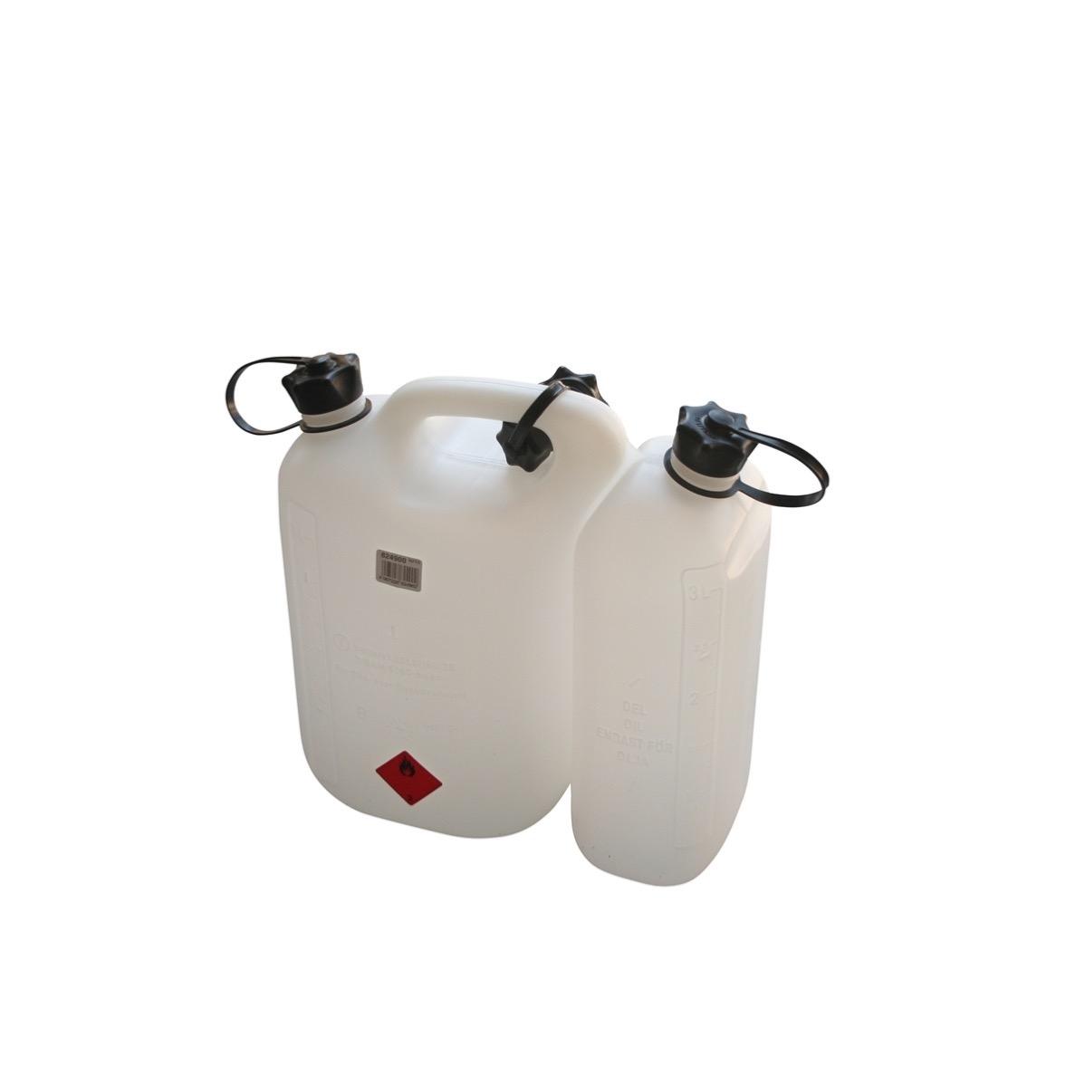 Extremement Bidon double essence et huile pour tronçonneuse 5.5L + 3L KE-08
