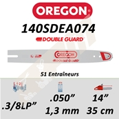 Guide de tronçonneuse OREGON DB GUARD 35 CM