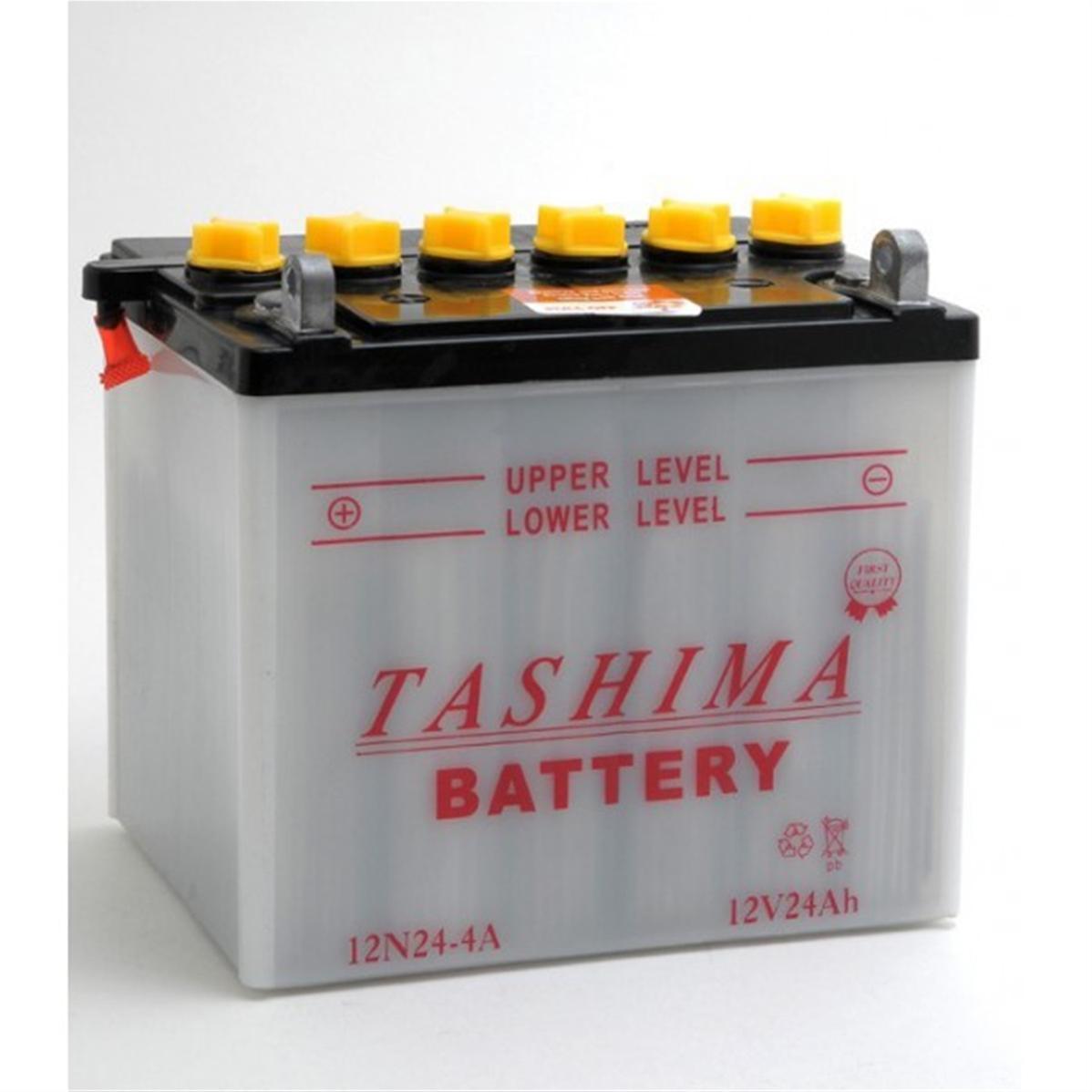batterie de tondeuse autoport e 12n24 4 gauche